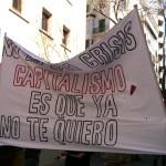 Pancarta de una protesta del 15M en Palma de Mallorca.