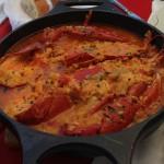 Arroz con bogavante en el 'Restaurante Alborada' de A Guarda.