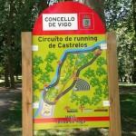 Circuito de 'running' en el Parque de Castrelos de Vigo.