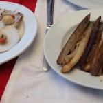 Zamburiñas y navajas en el 'Restaurante Alborada' de A Guarda.