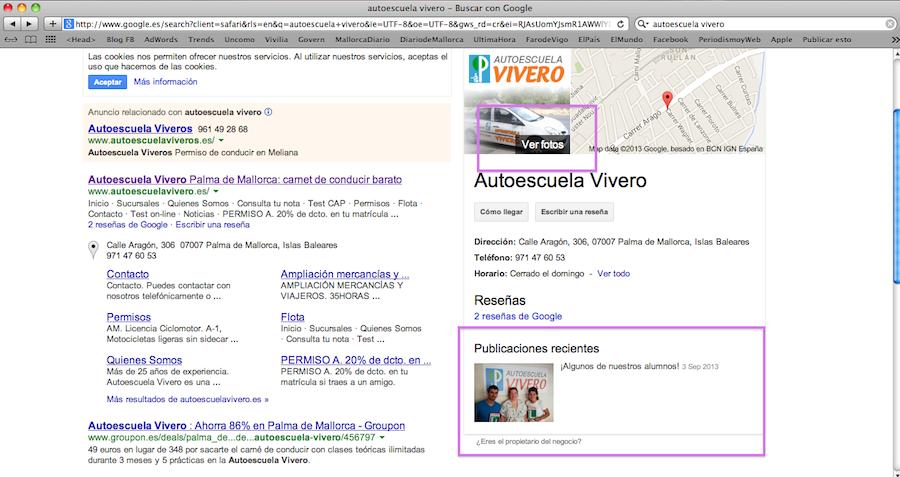 Autoescuela Vivero y Google+