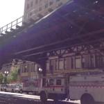 Las vías del metro exterior