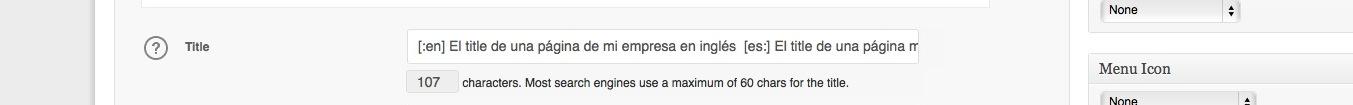 El title de una página para que el navegador escoja según el idioma.