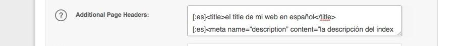 Códigos para implementar las metaetiquetas de la Home en varios idiomas
