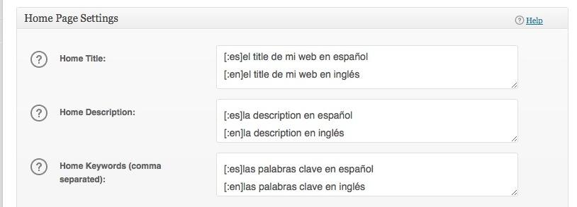 Otra opción para implementar las metaetiquetas de la Home en varios idiomas