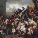 Episode des journées de septiembre 1830 sur la place de l'hotel de ville de Bruxelles (1835) - Gustaf Wappers