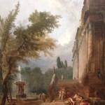 Fontaine et Colonnade dans un parc - Hubert Robert