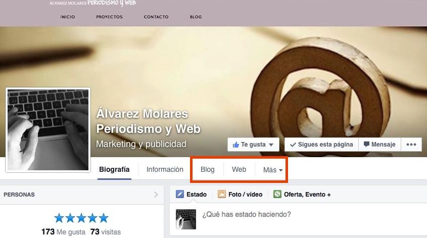 Las aplicaciones en el nuevo diseño de Facebook.