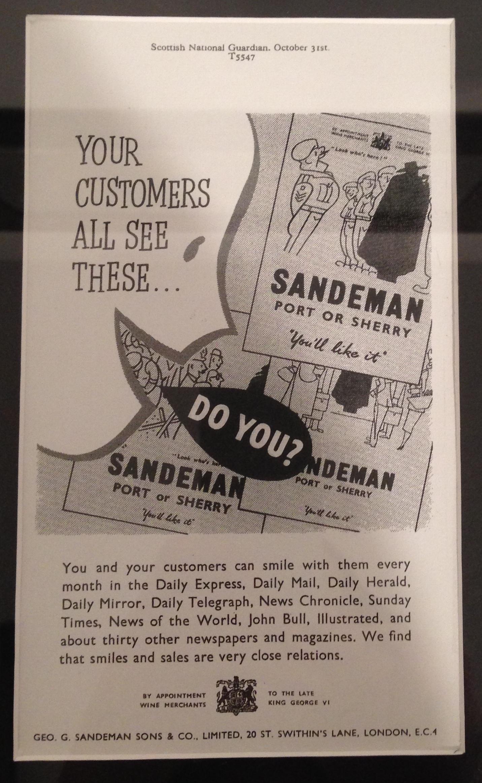 Anuncio Sandeman