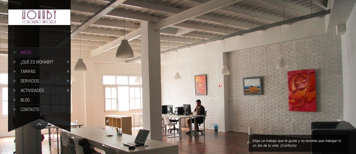 Web de Wohaby, centro de coworking en Mallorca.