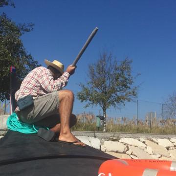 Gondolero en Aveiro
