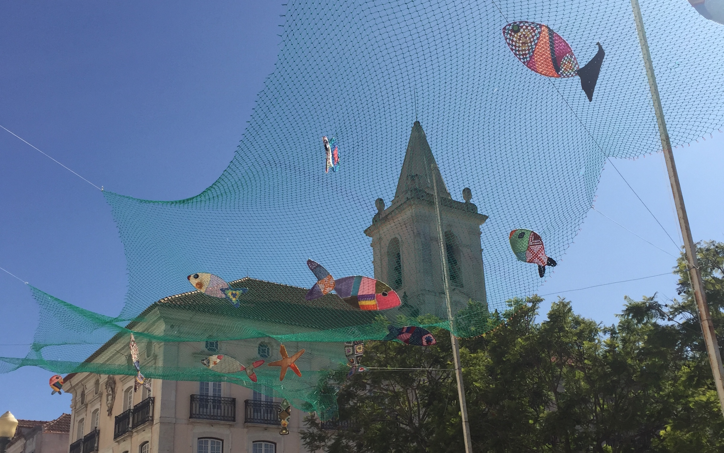 Decoración de las calles en Aveiro